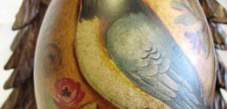 Hand painted egg warms any decor