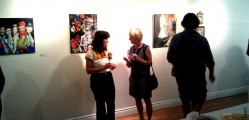 Sally Gable (L) in the downstairs gallery
