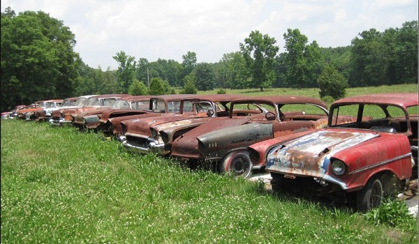 mission find classic unrestored cars in tennesee fields