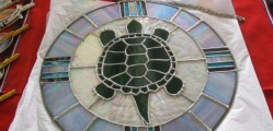 A sample of Charlene Deleary's stained glass creations