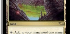 The Reflecting Pool card from Shadowmoor an expansion game pack for Magic: The Gathering