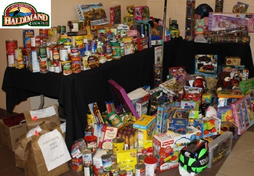 Sample of the donations for the five Haldimand Food Banks.