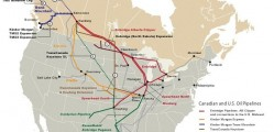 Oil pipelines already cross Canada and the United States- Ontario's Green Party stands opposed to a proposed Oil pipeline (using a modified natural gas pipeline) set to cross into and through Ontario. CP image: leadenergy.org