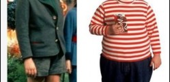 It appears North American society has been desensitized to what childhood obesity 'looks like'- what a difference a single generation can make. Here we see child obesity stricken Augustus Gloop characters from Willy Wonka's Chocolate Factory- (Left) 1971 (Right) 2005. Clearly, what was considered obese 42 years ago would not be considered obese today. As Society as a whole becomes more overweight and as media desensitizes our perspectives due to film and video characterizations, our opinions have been influenced. CP image: weknowmemes.com