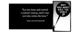 Control Nations Via Money Rothschild Quote Banner