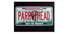 Parrothead Manatee License Plate Mock Up