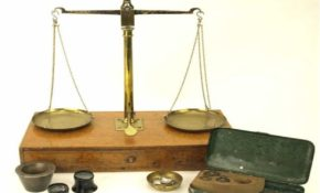 weighing scales purity of gold banner