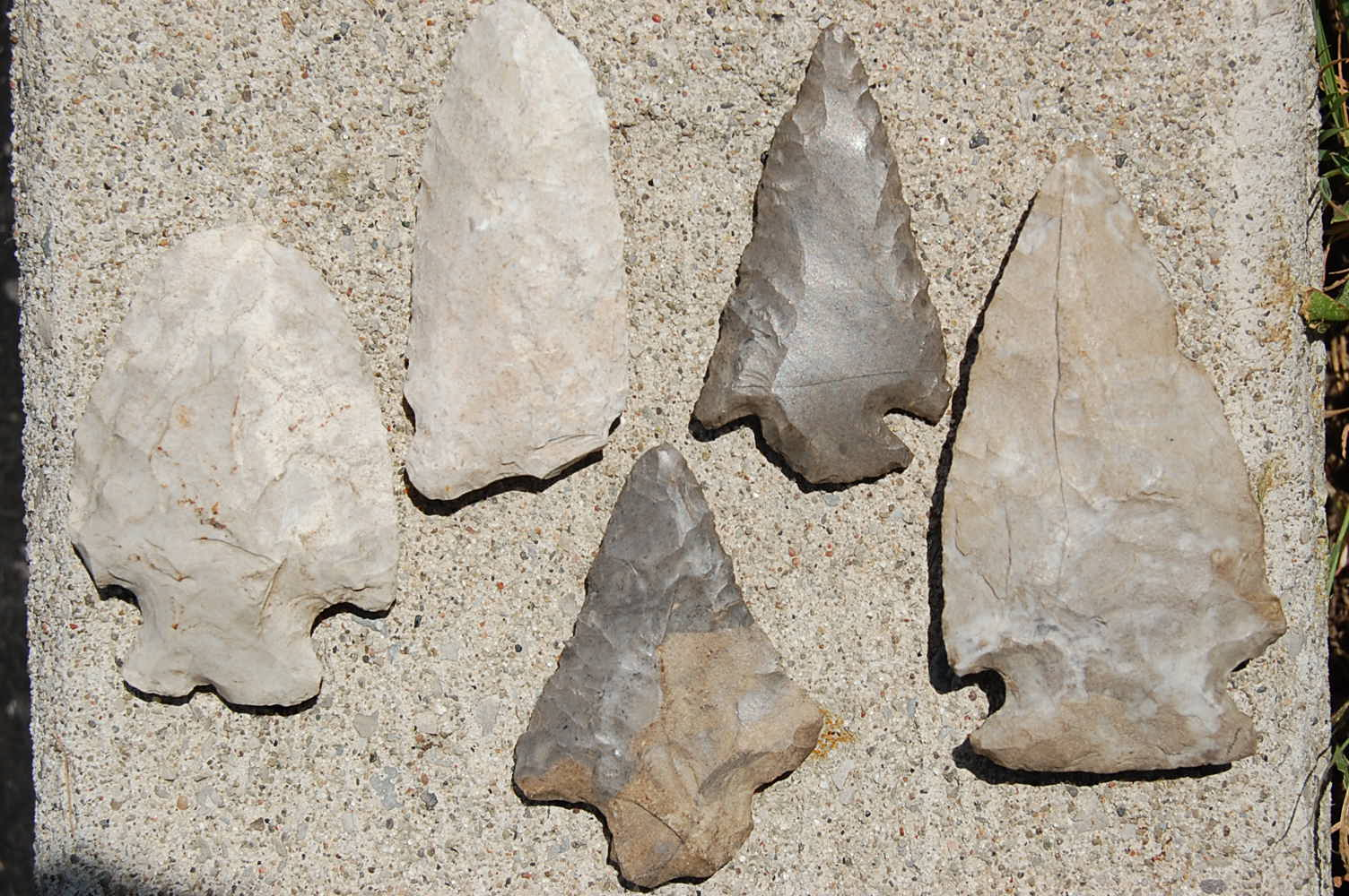 Ancient Arrowheads Made From Ancient Haldimand Stone
