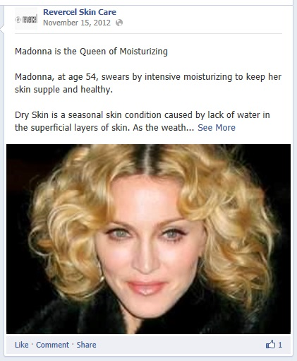 The Noodlemans use Madonna as an example of the triumphs of skin moisturizing.