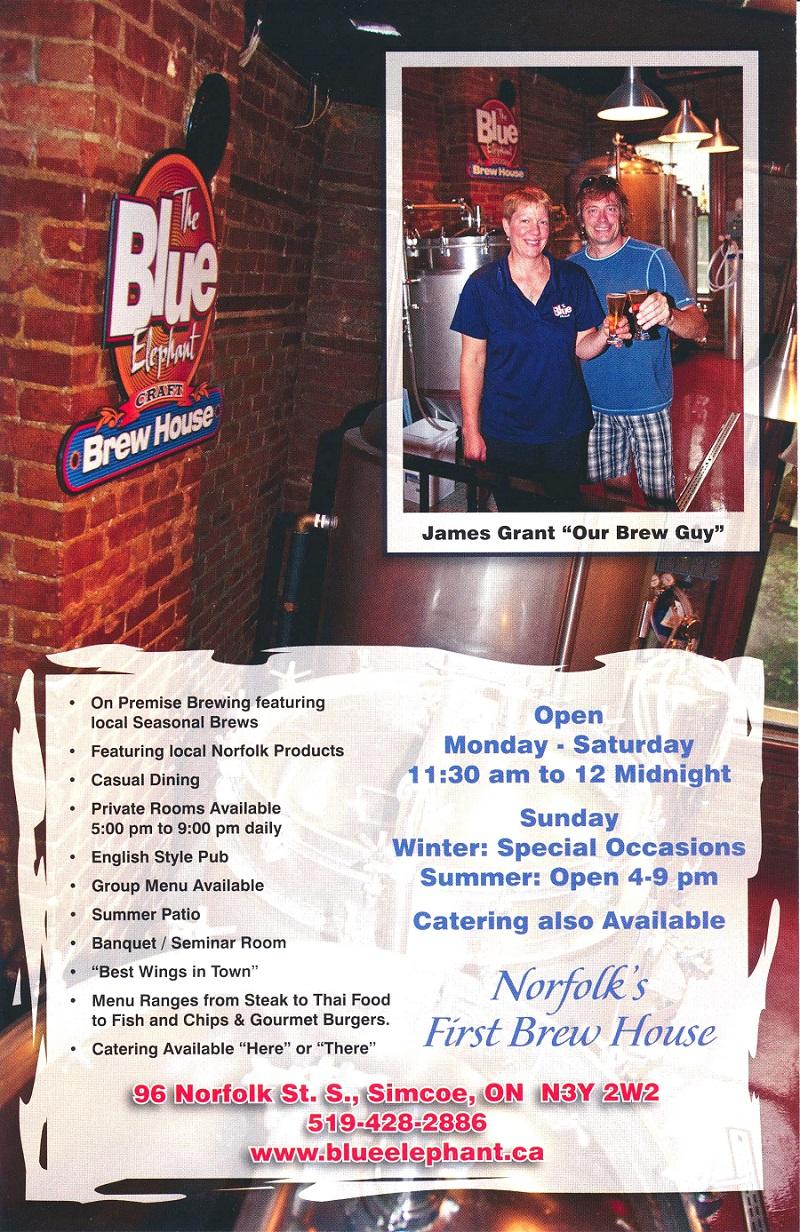 The Blue Elephant Brew House Simcoe Ontario