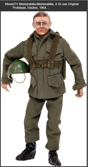 "He might have a face for radio- but the earliest GI Joe action figure shown here was a proof of concept that turned out to be right. The 12"" doll costumes and accessories changed little and demonstrated that this scale of toy action figure had strong marketability. CP"