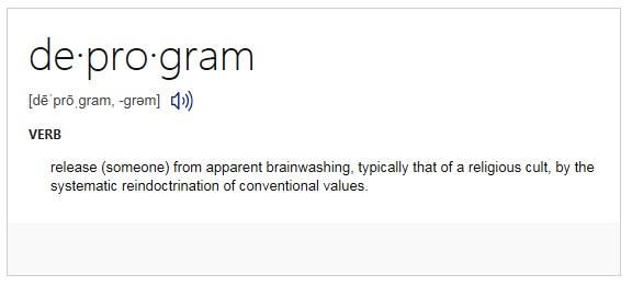 deprogram-definition