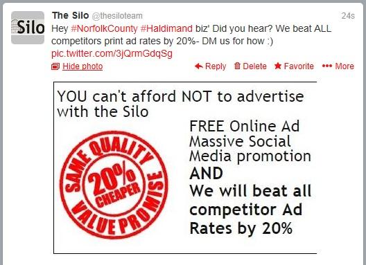 Silo Print Ad Price Beat Guarantee