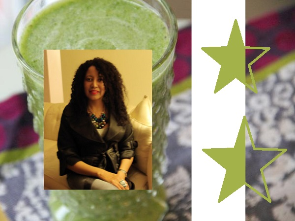 "Chef Shelley Alexander. A big fan of ""start your day off with a green smoothie"". We like that idea."