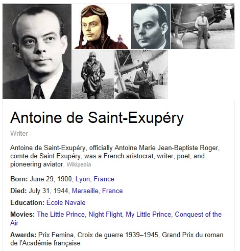 The author of The Little Prince- Antoine de Saint-Exupery
