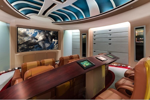 """Beam me up!"" $35,000,000 USD Star Trek themed Home Theater for sale"