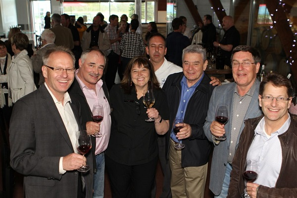 Guests at the Burning Kiln Winery toast the opening of this years tourism season.