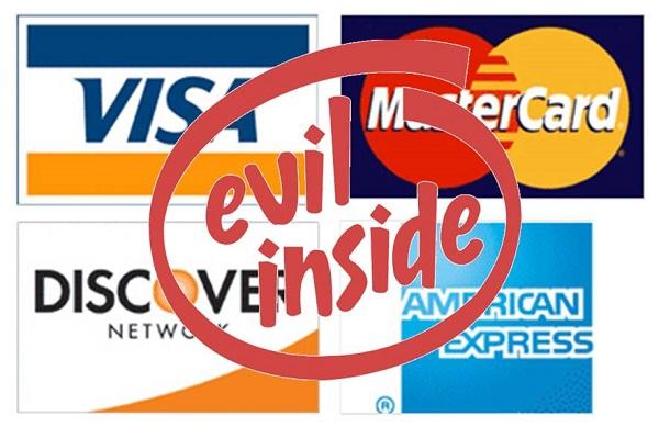 Credit Cards Evil Inside