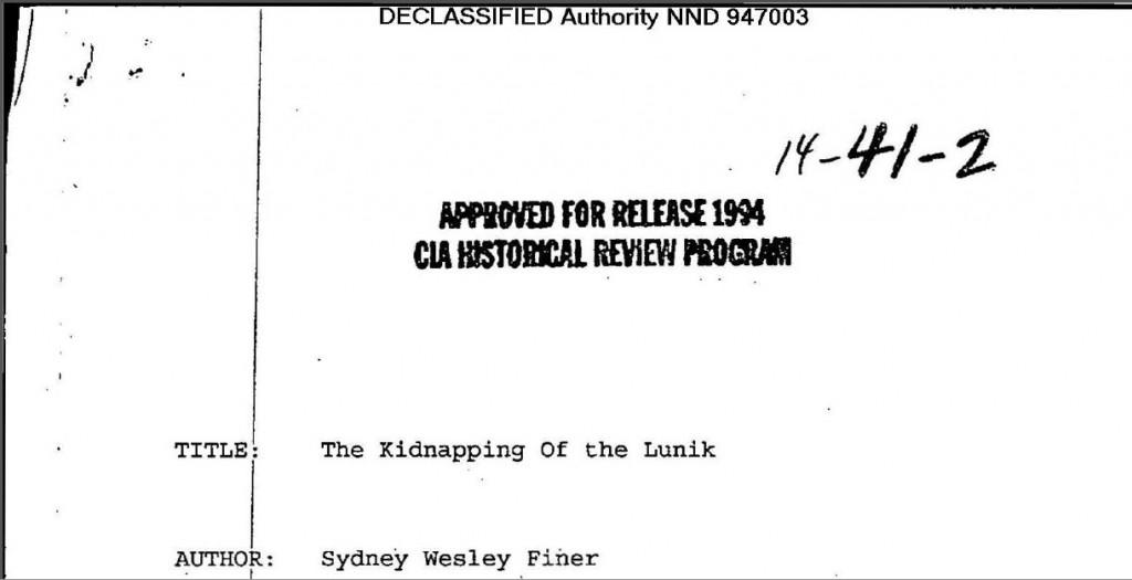 Declassified Lunik CIA Kidnapping