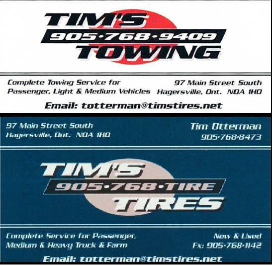 Tims Towing Tims Tires Hagersville
