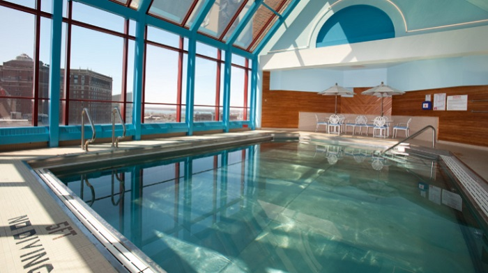 If like us, you can't get enough of Rooftop City Viewing- you will love the pool.
