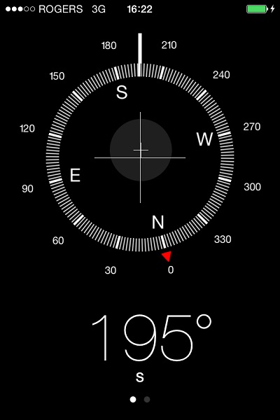 Compass Heading for Sighting