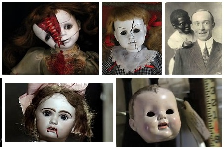 "Creeped out? Here's some of the dolls Bing suggest after searching ""Creepy Doll"". Click image to hear Edison's doll speak."