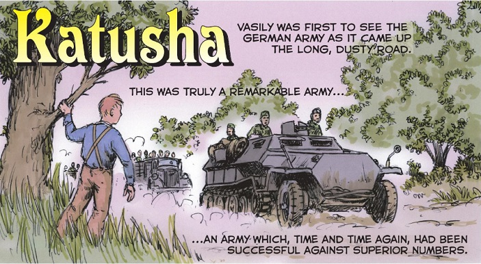 WW2 Graphic Novel KATUSHA goes daily in free WEBCOMIC debut
