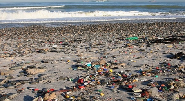 Ocean Pollution Beach Example