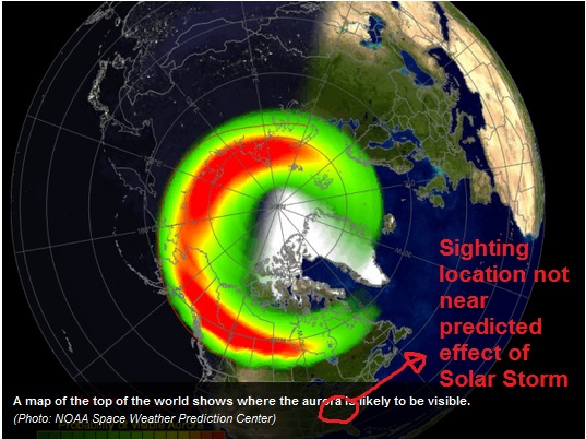 Predicted Solar Storm Aura