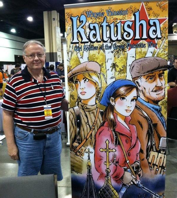 Wayne Vansant and a blowup of his new work-in-progress: Katusha