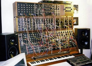 One of the early (but not earliest) analog modular Moog synthesizers.