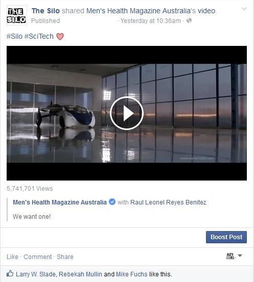 Flying Car Viral Video via Mens Health Mag2