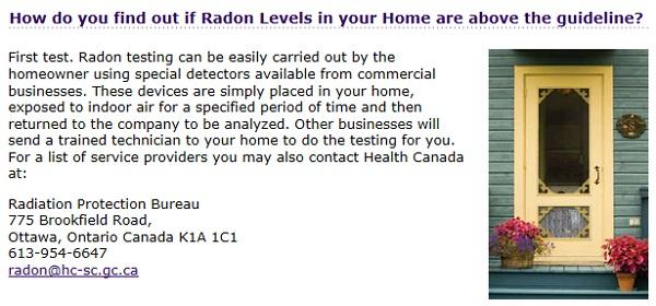 Testing Radon In Canada Homes