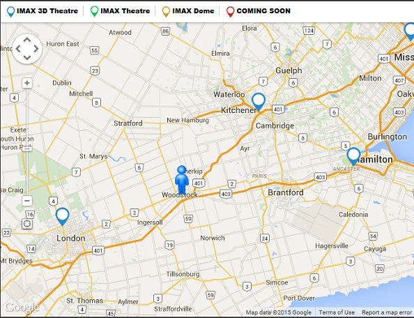 Click MAP to find IMAX near you