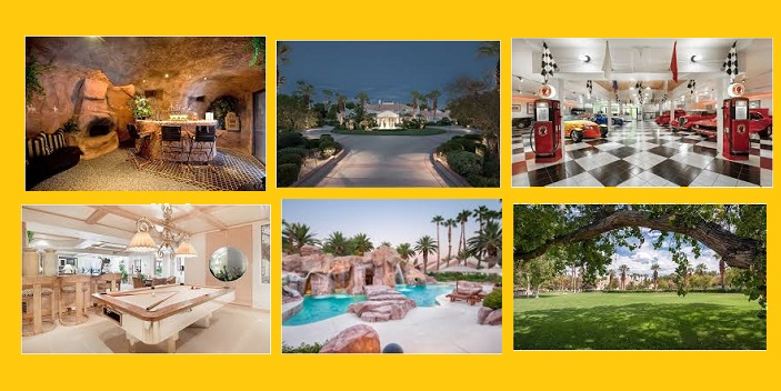 Celebrity Homes: Casino King's Las Vegas Mansion Going To Auction