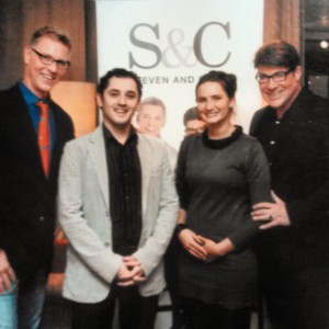 Sheppard's Phil and Carrie Ferreira with Canadian television home decor gurus Steven and Chris.