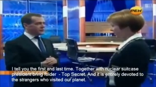 Prime Minister Medvedev Aliens Interview