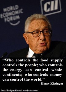 Henry Kissinger How Commodities Control Whole Populations