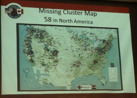 Missing Persons Cluster Map North American Distribution Pattern ...