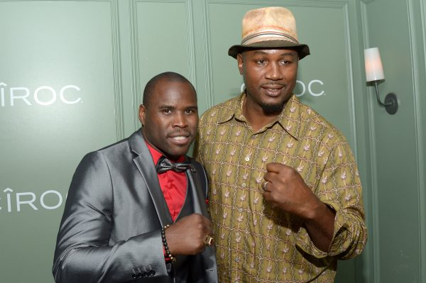"TORONTO, ON - SEPTEMBER 11: Professional boxerrs Adonis Stevenson (L) and Lennox Lewis attend the ""King of the Dancehall"" premiere screening party presented by Ciroc during the 2016 Toronto International Film Festival at EFS Lounge on September 11, 2016 in Toronto, Canada. (Photo by Matt Winkelmeyer/Getty Images for Brilliant Consulting )"