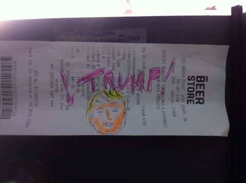 You could always just doodle on a receipt like this one from J. Barker :)