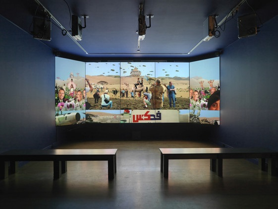 Eva Davidova multimedia installation view