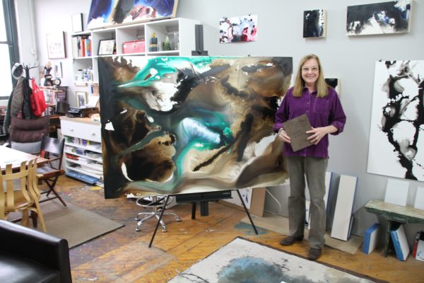 Jeannie Motherwell in her Joy Street Studios, Somerville, MA