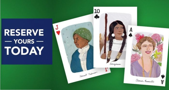 NARAL Hand Drawn Playing Cards Celebrate Trailblazing American Women