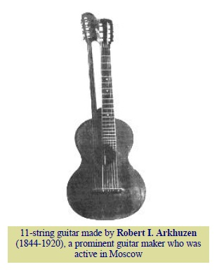 19th Century Russian 11 string Guitar