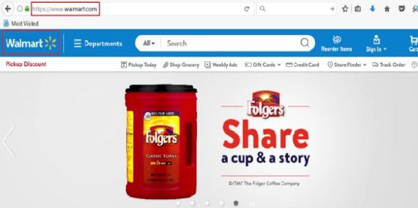 eCommerce Domain Name Example WalMart