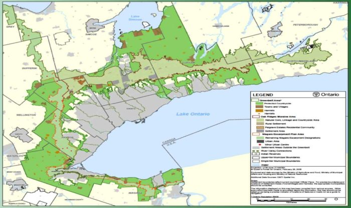 Ontario Oak Ridge Greeenbelt Map